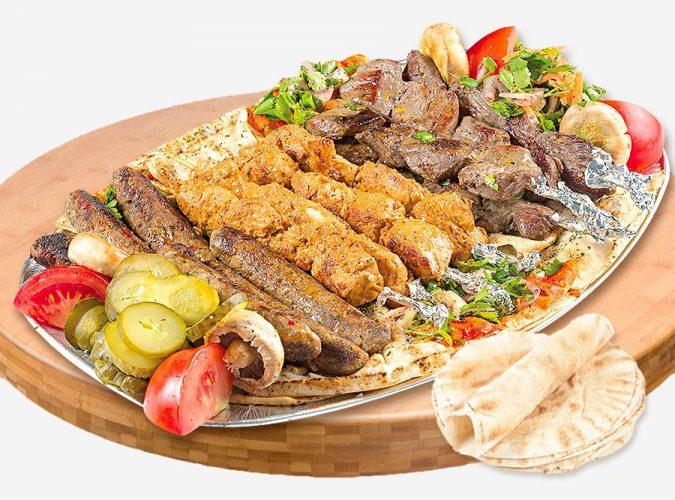 Platou libanez cu gratare pentru 4 persoane – 1000g